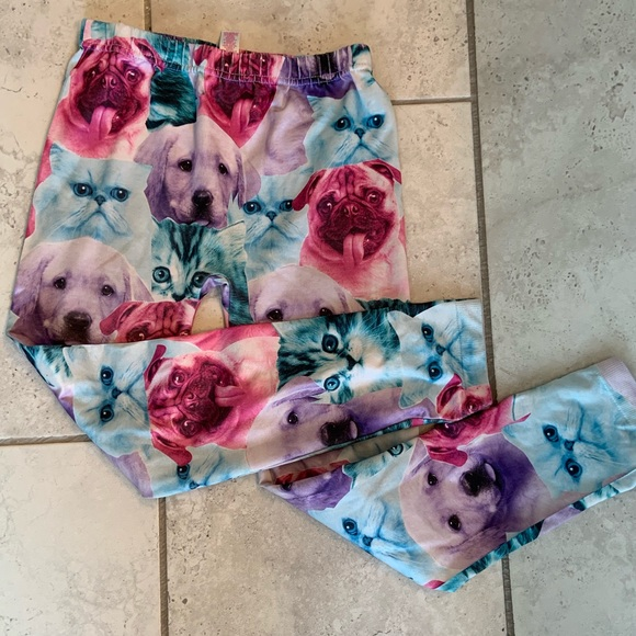 Justice Other - Justice Leggings- Cats & Dogs